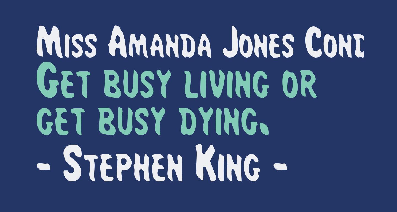 Miss Amanda Jones Cond
