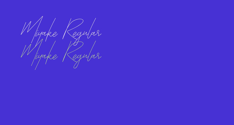 Miyake Regular