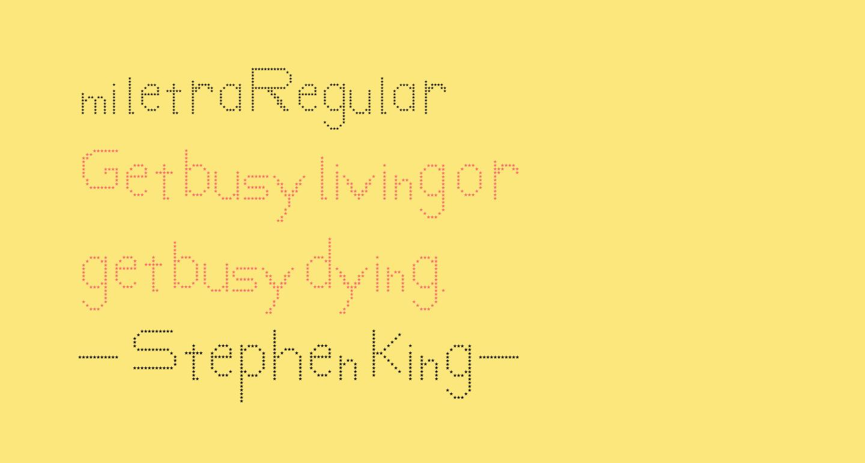 mi letra Regular