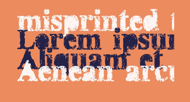 misprinted type