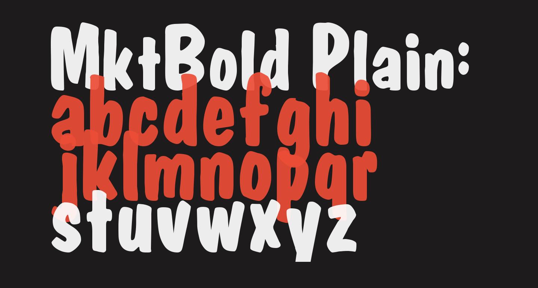 MktBold Plain: