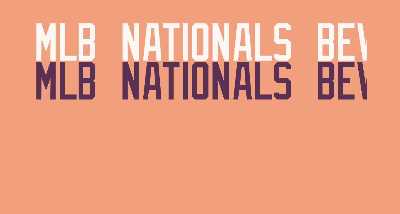 MLB Nationals Bevel