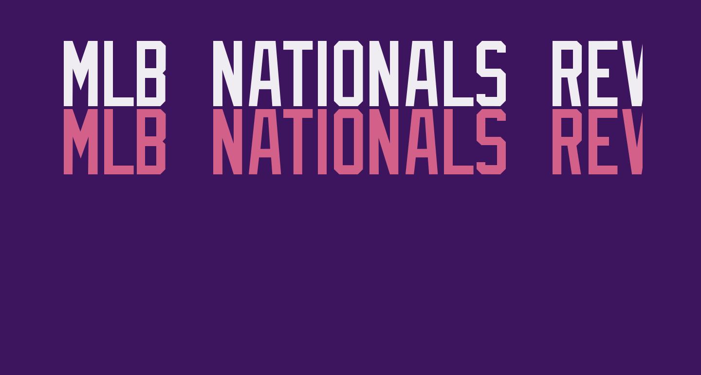 MLB Nationals Reverse Bevel
