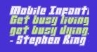 Mobile Infantry Academy Italic