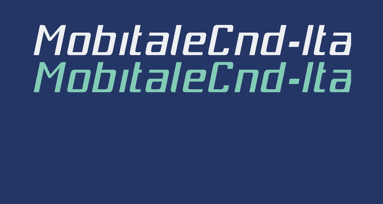 MobitaleCnd-Italic