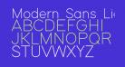 Modern Sans Light