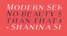 Modern Serif Italic