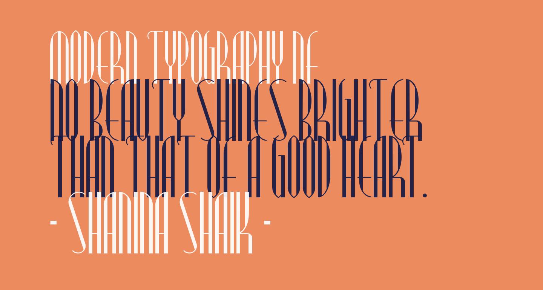 Modern Typography NF