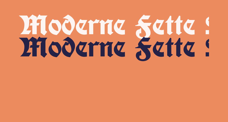 Moderne Fette Schwabacher UNZ1A