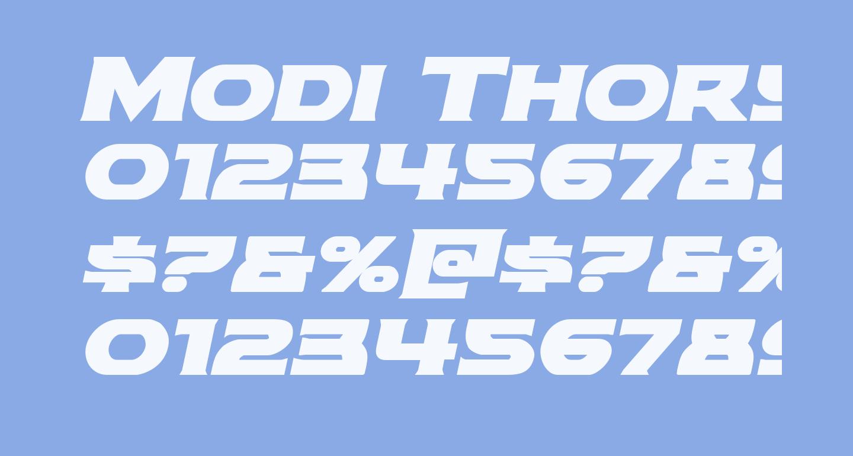 Modi Thorson Bold Italic