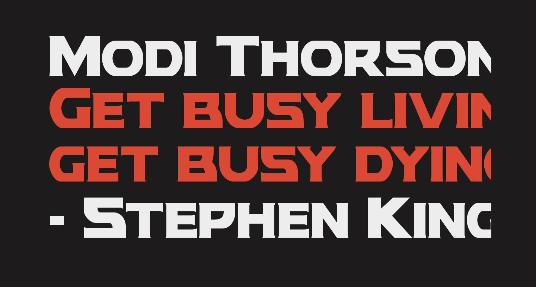 Modi Thorson Condensed