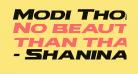 Modi Thorson Expanded Italic