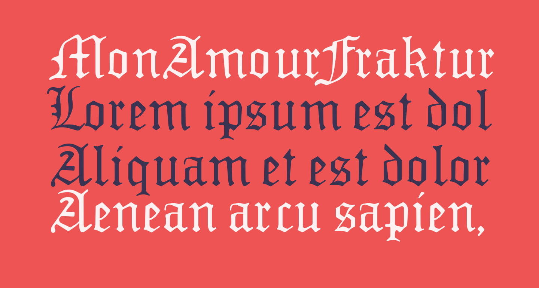 MonAmourFrakturRegular