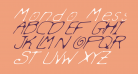 Mondo Messo Fonto Italic
