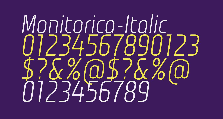 Monitorica-Italic