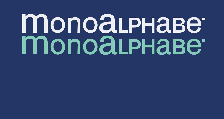 MonoAlphabet Regular
