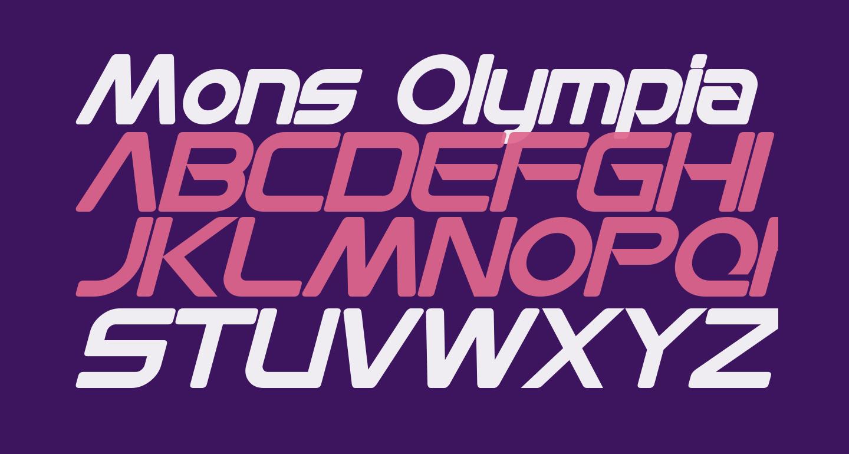 Mons Olympia Bold Italic