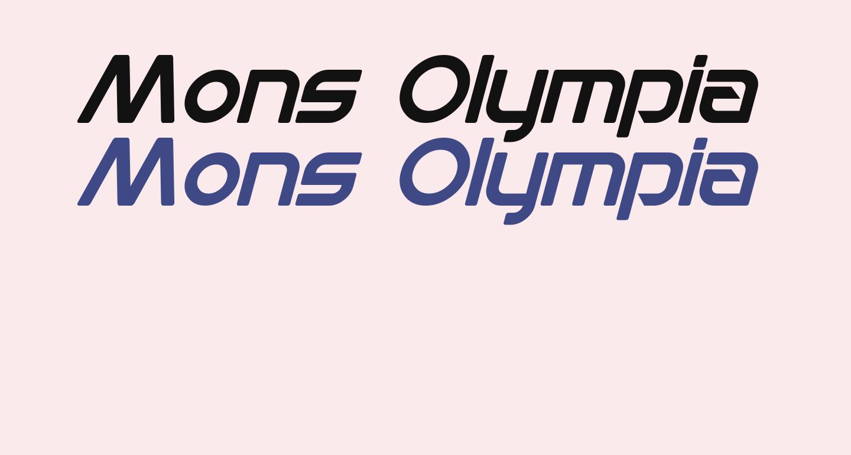 Mons Olympia Italic