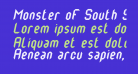 Monster oF South St Italic