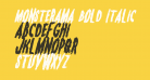 Monsterama Bold Italic