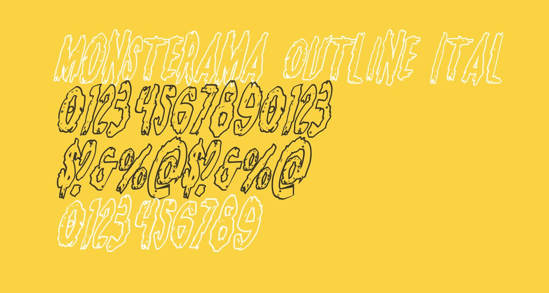 Monsterama Outline Italic