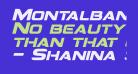 Montalban Bold Italic