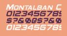 Montalban Condensed Italic