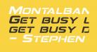 Montalban Italic