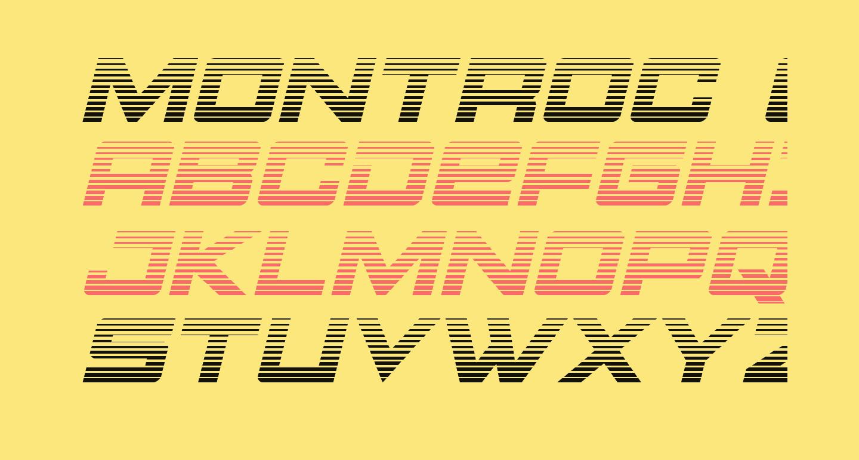 Montroc Gradient Italic