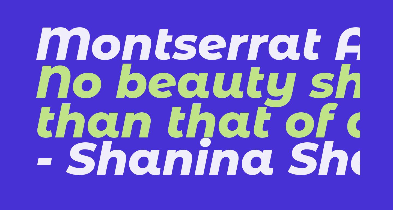 Montserrat Alternates ExtraBold Italic
