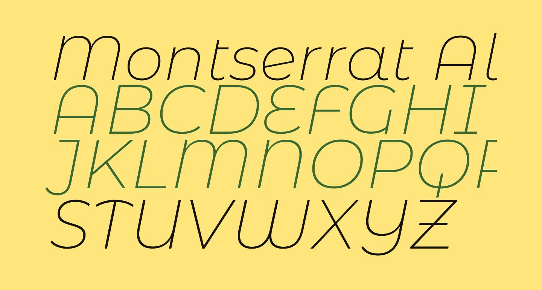 Montserrat Alternates ExtraLight Italic