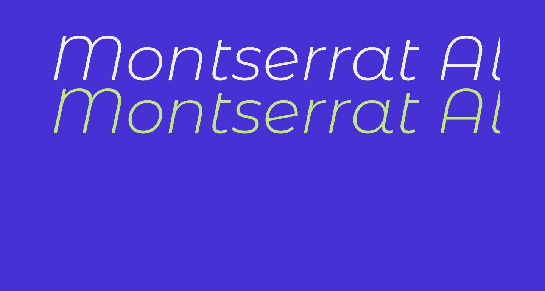 Montserrat Alternates Light Italic