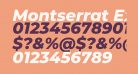 Montserrat ExtraBold Italic