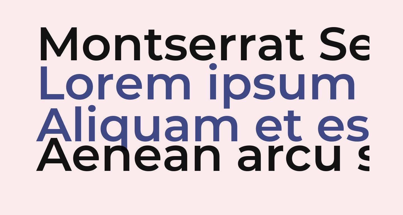Montserrat SemiBold