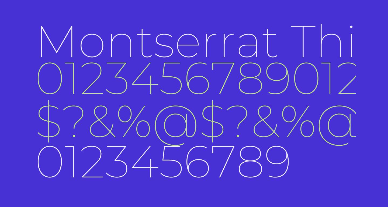 Montserrat Thin