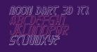 Moon Dart 3D Italic