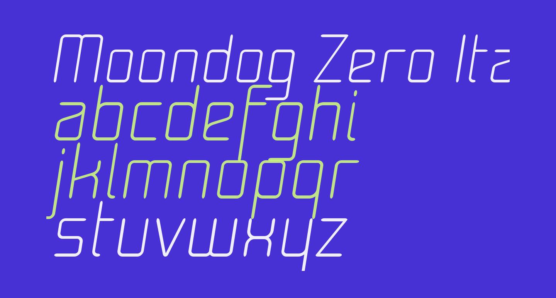Moondog Zero Italic