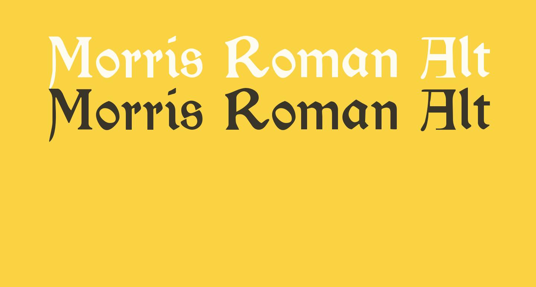 Morris Roman Alternate Black