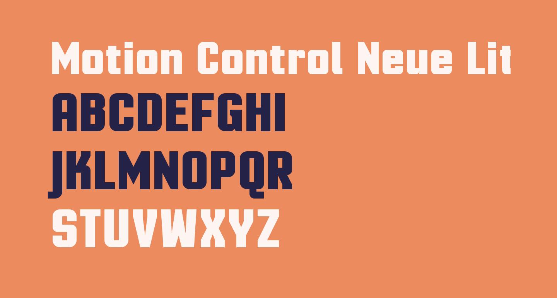 Motion Control Neue Lite Bold