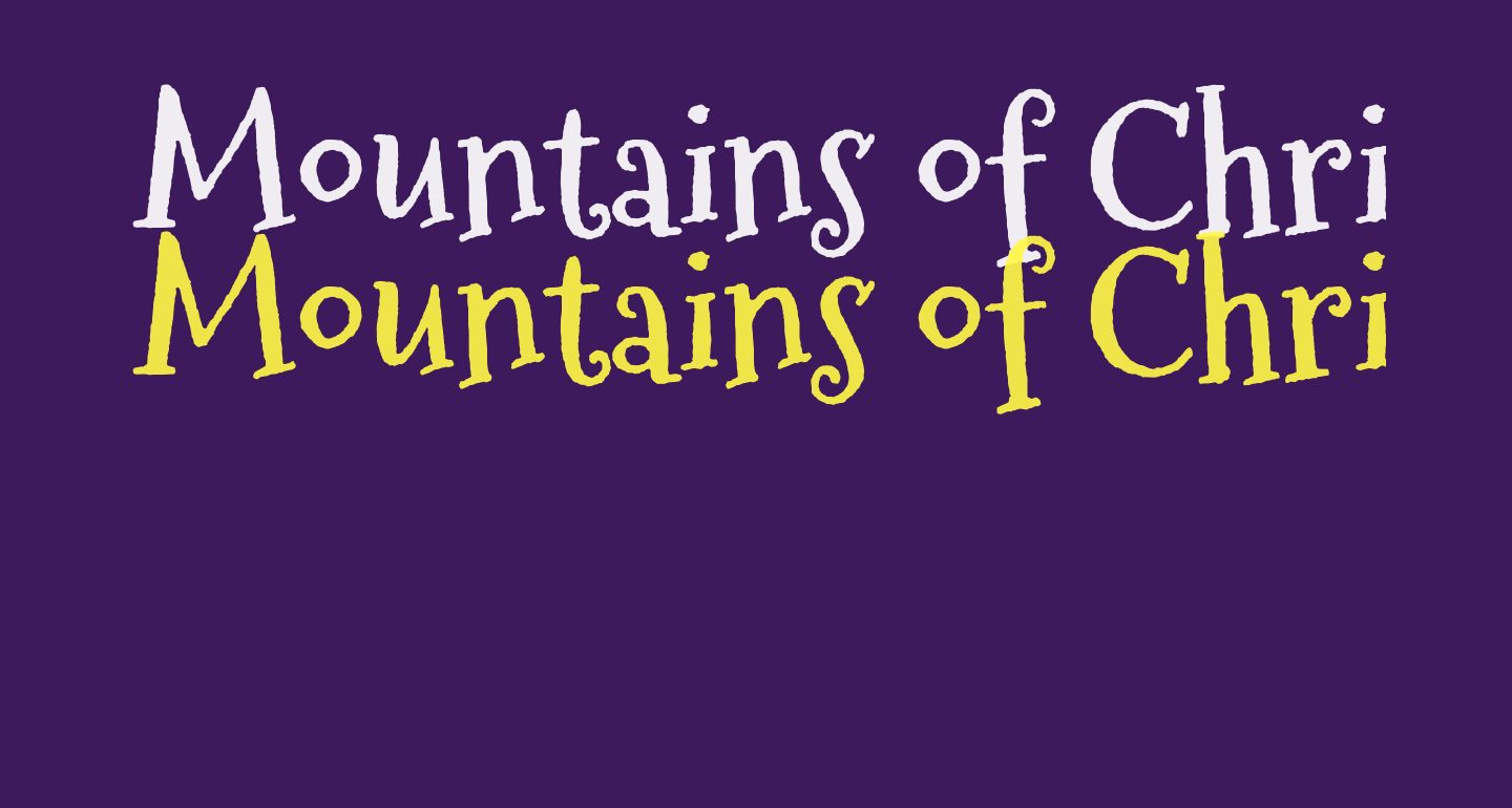 Mountains of Christmas Bold free Font - What Font Is