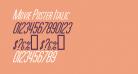 Movie Poster Italic