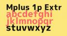 Mplus 1p ExtraBold