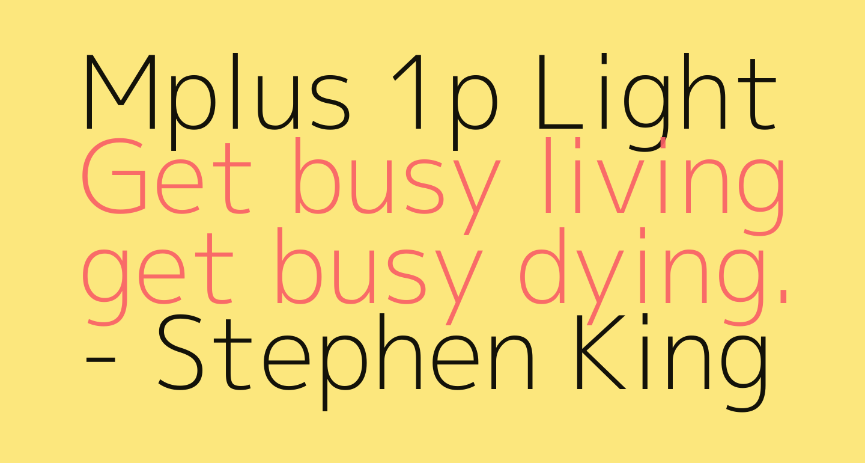 Mplus 1p Light