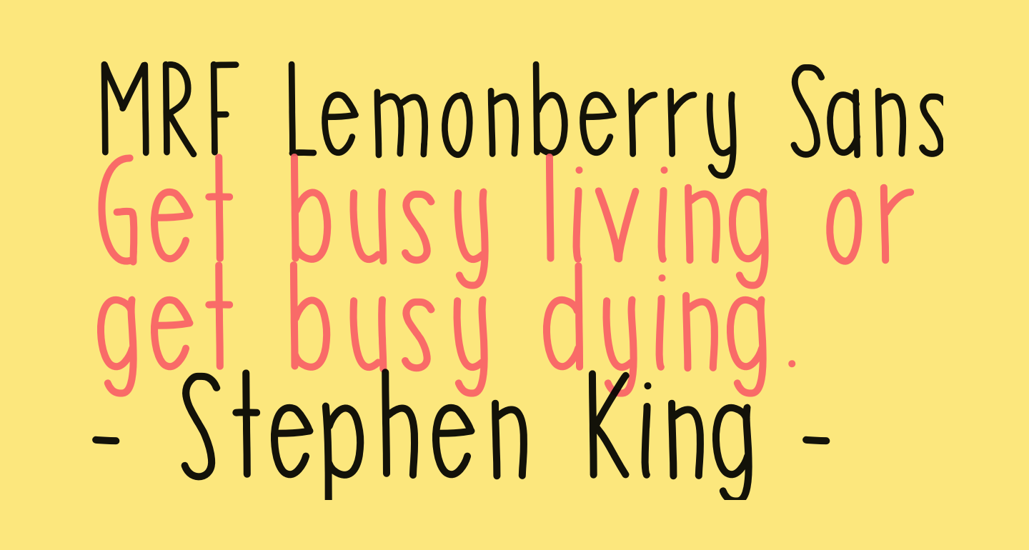 MRF Lemonberry Sans