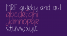 MRF quirky and authentic hand font demo