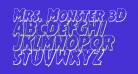 Mrs. Monster 3D Italic