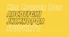 Mrs. Monster Bold Outline Italic