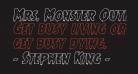 Mrs. Monster Outline Italic