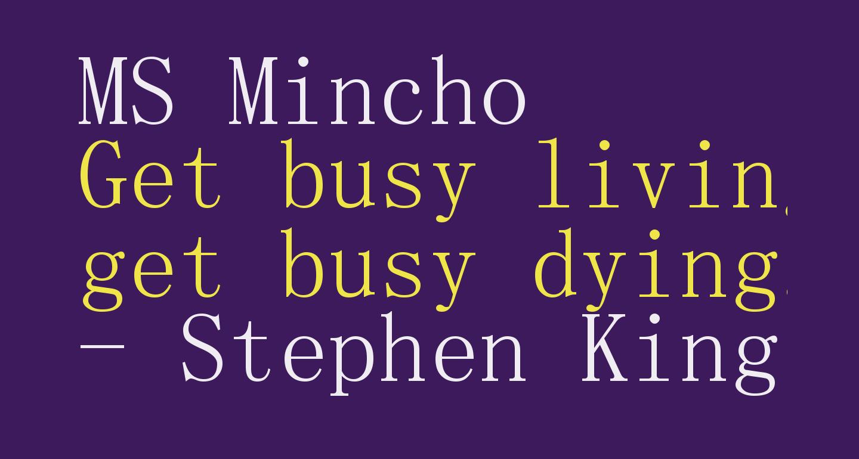 MS Mincho