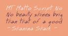 MT Matto Script Normal